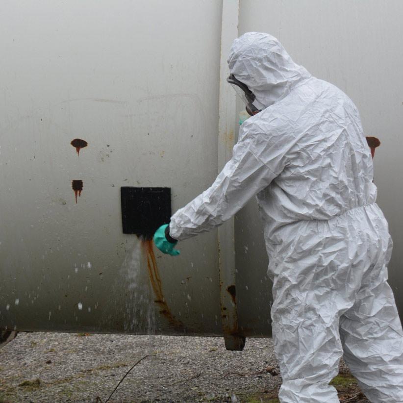 officers investigation hazardous material on training
