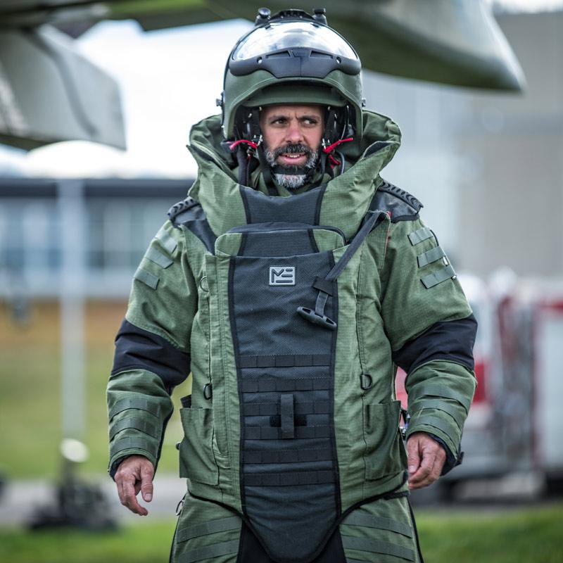 Person In Hazardous Materials Suit
